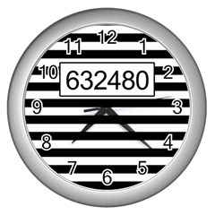 Prison  Wall Clocks (silver)  by Valentinaart