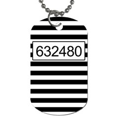 Prison  Dog Tag (one Side) by Valentinaart
