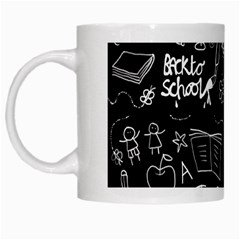 Back To School White Mugs by Valentinaart