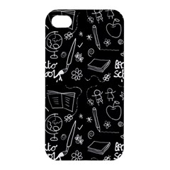 Back To School Apple Iphone 4/4s Hardshell Case by Valentinaart
