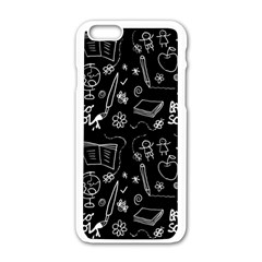 Back To School Apple Iphone 6/6s White Enamel Case by Valentinaart