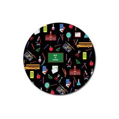 Back To School Magnet 3  (round) by Valentinaart