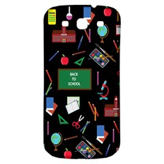 Back To School Samsung Galaxy S3 S Iii Classic Hardshell Back Case by Valentinaart