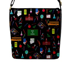 Back To School Flap Messenger Bag (l)  by Valentinaart