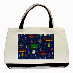 Back To School Basic Tote Bag by Valentinaart