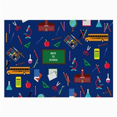 Back To School Large Glasses Cloth (2 Side) by Valentinaart