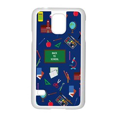 Back To School Samsung Galaxy S5 Case (white) by Valentinaart