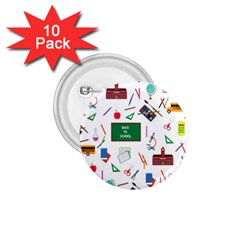 Back To School 1 75  Buttons (10 Pack) by Valentinaart