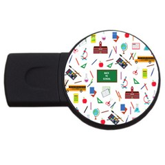 Back To School Usb Flash Drive Round (2 Gb) by Valentinaart
