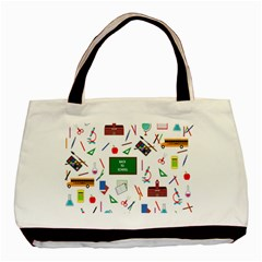 Back To School Basic Tote Bag (two Sides) by Valentinaart