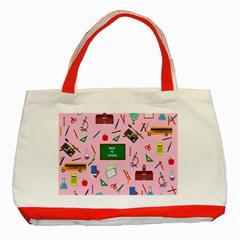 Back To School Classic Tote Bag (red) by Valentinaart
