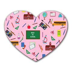 Back To School Heart Mousepads by Valentinaart
