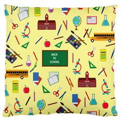 Back To School Large Cushion Case (two Sides) by Valentinaart
