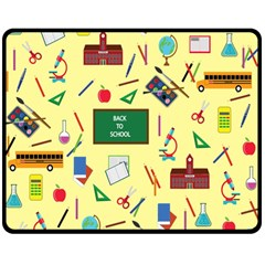 Back To School Double Sided Fleece Blanket (medium)  by Valentinaart