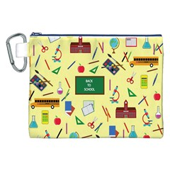 Back To School Canvas Cosmetic Bag (xxl) by Valentinaart