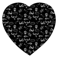 Skeleton Pattern Jigsaw Puzzle (heart) by Valentinaart
