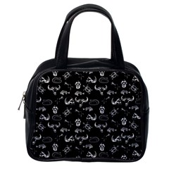 Skeleton Pattern Classic Handbags (one Side) by Valentinaart
