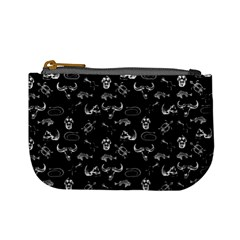 Skeleton Pattern Mini Coin Purses by Valentinaart