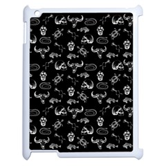 Skeleton Pattern Apple Ipad 2 Case (white) by Valentinaart
