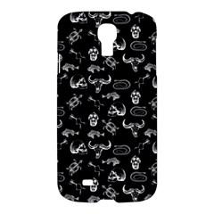 Skeleton Pattern Samsung Galaxy S4 I9500/i9505 Hardshell Case by Valentinaart