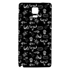 Skeleton Pattern Galaxy Note 4 Back Case by Valentinaart