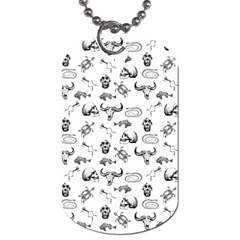 Skeleton Pattern Dog Tag (one Side) by Valentinaart