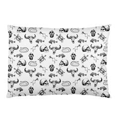 Skeleton Pattern Pillow Case by Valentinaart