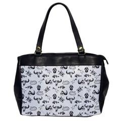 Skeleton Pattern Office Handbags by Valentinaart