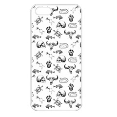 Skeleton Pattern Apple Iphone 5 Seamless Case (white) by Valentinaart
