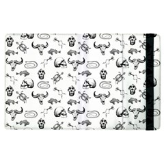Skeleton Pattern Apple Ipad 3/4 Flip Case by Valentinaart