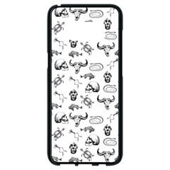 Skeleton Pattern Samsung Galaxy S8 Black Seamless Case by Valentinaart