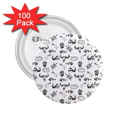 Skeleton Pattern 2 25  Buttons (100 Pack)  by Valentinaart