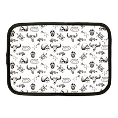 Skeleton Pattern Netbook Case (medium)  by Valentinaart
