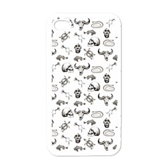 Skeleton Pattern Apple Iphone 4 Case (white) by Valentinaart