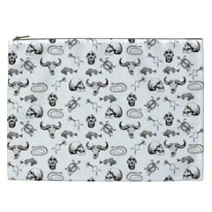 Skeleton Pattern Cosmetic Bag (xxl)  by Valentinaart