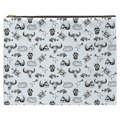 Skeleton Pattern Cosmetic Bag (xxxl)  by Valentinaart