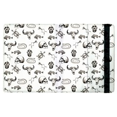 Skeleton Pattern Apple Ipad 2 Flip Case by Valentinaart