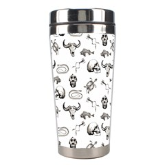 Skeleton Pattern Stainless Steel Travel Tumblers by Valentinaart