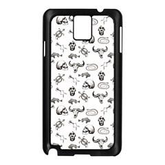 Skeleton Pattern Samsung Galaxy Note 3 N9005 Case (black) by Valentinaart