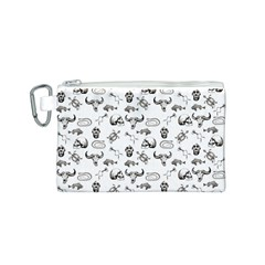 Skeleton Pattern Canvas Cosmetic Bag (s) by Valentinaart