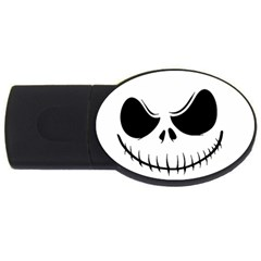 Halloween Usb Flash Drive Oval (4 Gb) by Valentinaart