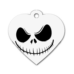 Halloween Dog Tag Heart (two Sides) by Valentinaart