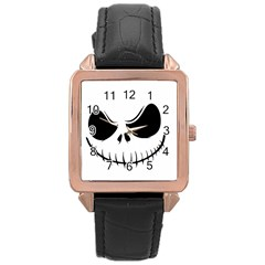 Halloween Rose Gold Leather Watch  by Valentinaart