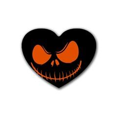 Halloween Rubber Coaster (heart)  by Valentinaart