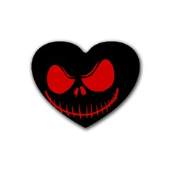 Halloween Rubber Coaster (heart)  by Valentinaart