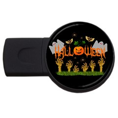 Halloween Usb Flash Drive Round (2 Gb) by Valentinaart