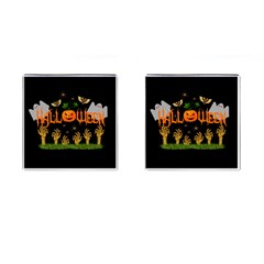 Halloween Cufflinks (square) by Valentinaart