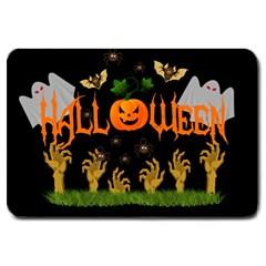Halloween Large Doormat  by Valentinaart