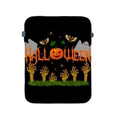 Halloween Apple Ipad 2/3/4 Protective Soft Cases by Valentinaart
