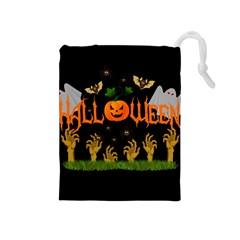 Halloween Drawstring Pouches (medium)  by Valentinaart